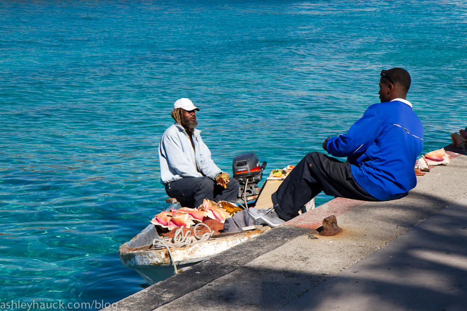 Conch Fisherman in Nassau