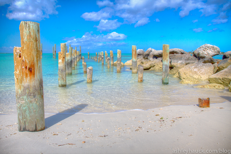 Old Dock Pilings at Jaws Beach