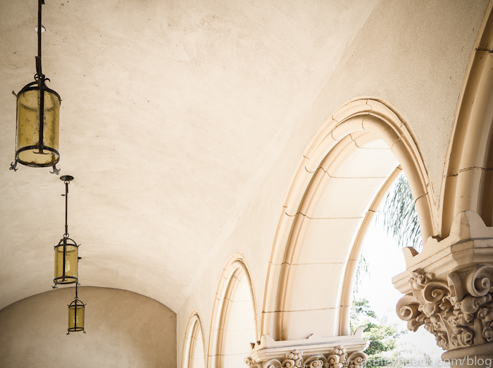 Casa de Balboa archways at Balboa Park, San Diego, California