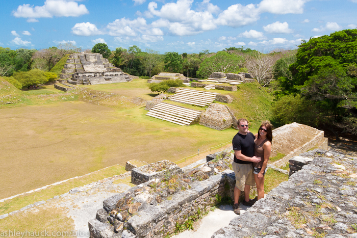 Mat and Ash at Altun Ha, Belize
