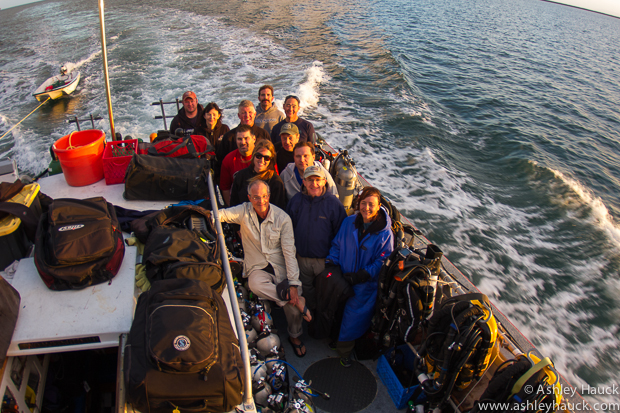 Group photo, Ocean Research Group Catalina Trip