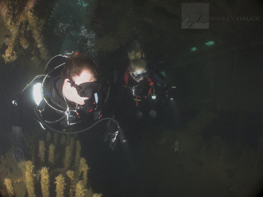 Divers in the engine room